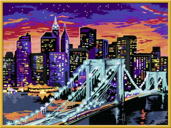 Ravensburger 28897 Malen nach Zahlen Premium Brooklyn Bridge