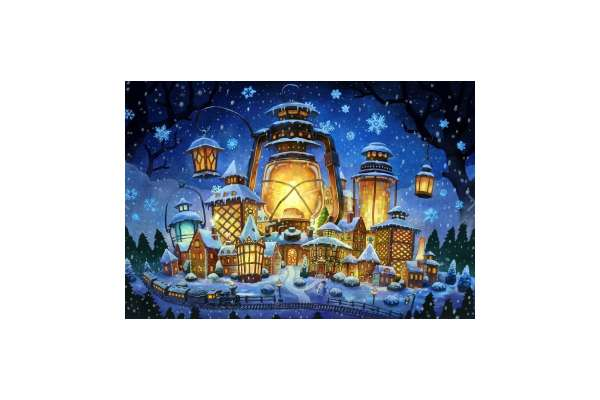 Wizardi WD2387 Diamond Painting Kit Weihnachtsbeleuchtung