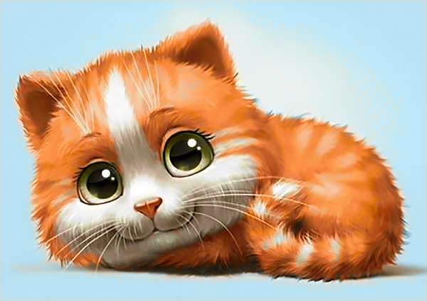 Diamond Painting Kit Ginger Cat