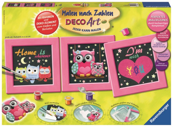 Ravensburger 28977 Deco Art Eulen