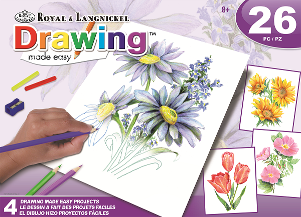 Drawing Made Easy™ Flowers Box Set