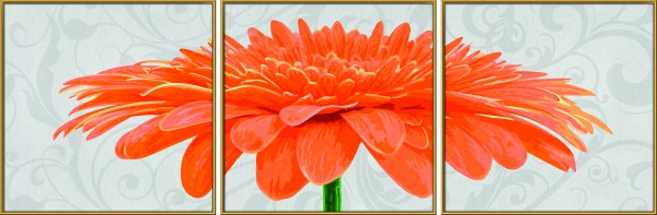 Schipper 609400684 Chrysanthemum grandiflorum orange Malen nach Zahlen