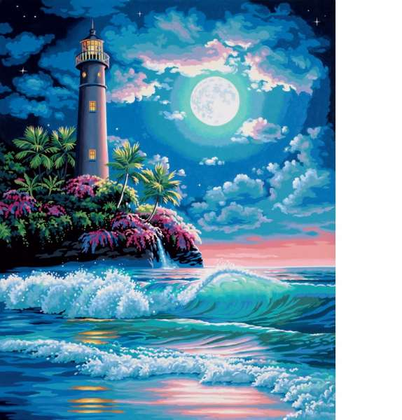 Lighthouse in Moonlight