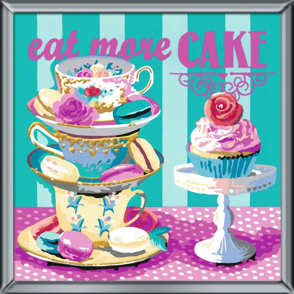 Ravensburger 29016 Deco Art Eat More Cake Malen nach Zahlen